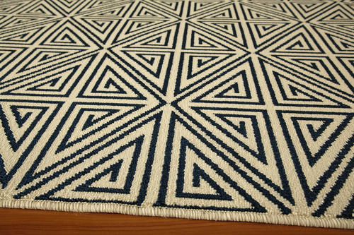 "Designers Image™ Beachcomber Navy Indoor/Outdoor Area Rug 6'7"" x 9'6"""