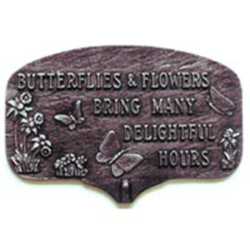 Montague Metal Products Butterfles and Flowers Garden Plaque