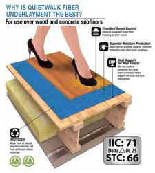 """Menards Laminate Flooring >> MP Global Products QuietWalk Plus+® 1/8"""" Floating Floor Underlayment at Menards®"""