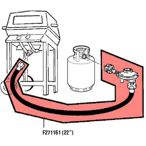 """Mr Heater Lp Gas Grill Replacement Hose 22 /"""""""
