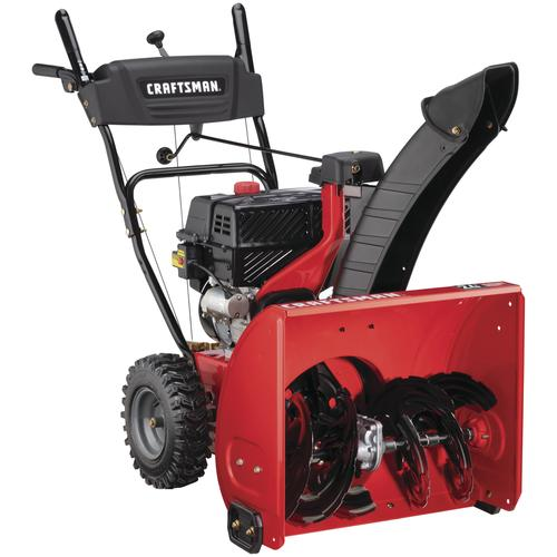 Menards Snow Blowers >> Craftsman 24 208cc Two Stage Electric Start Gas Snow