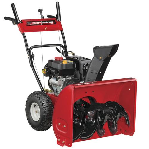 Menards Snow Blowers >> Yard Machines 26 208cc Two Stage Electric Start Gas Snow