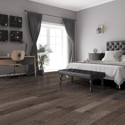 Great Lakes Wood Floors 38 X 5 38 Hand Sculpted Granite Hickory