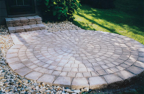 6 1/2u0027 Tumbled Circle Paver Kit At Menards®