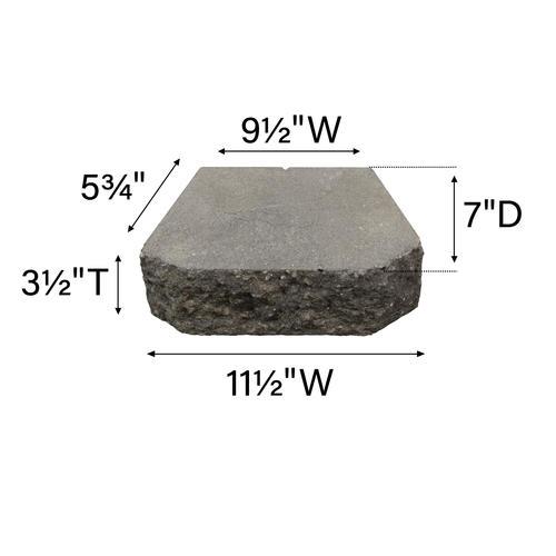3-1/2 x 11-1/2 Crestone Beveled Retaining Wall Block at Menards®