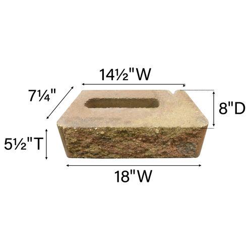5-1/2 x 18 Lakewood XL Retaining Wall Block at Menards®