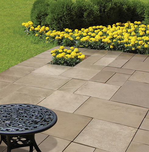 "Landscape Patio Menards Patio Blocks For Cozy Your: 16"" X 24"" Wetcast Yorkstone Patio Block At Menards®"