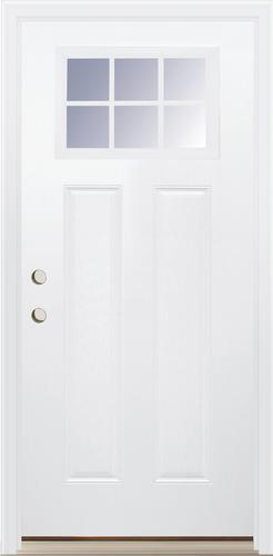 Mastercraft Craftsman Embossed 36 W X 80 H Primed Steel Prehung Exterior Door