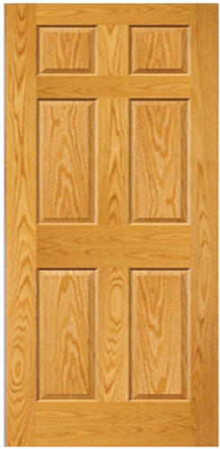 Mastercraft Prefinished Golden Oak Raised 6 Panel Interior Door