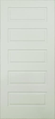 Mastercraft Primed Equal 5 Panel Interior Door Only At Menards