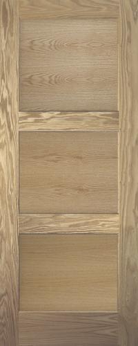 Mastercraft Ready To Finish Oak Flat 3 Panel Equal Interior Door Slab At Menards