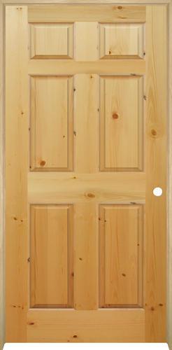 Mastercraft® Knotty Pine Raised 6 Panel Interior Door System ...