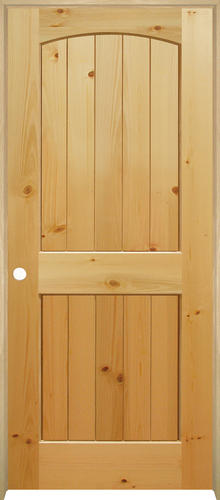 Delightful Mastercraft® Knotty Pine Arched Plank 2 Panel Prehung Interior Door At  Menards®