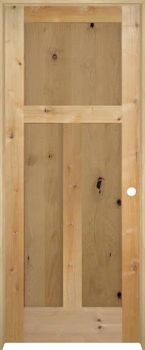 Mastercraft knotty alder flat mission 3 panel prehung - Knotty alder interior doors sale ...