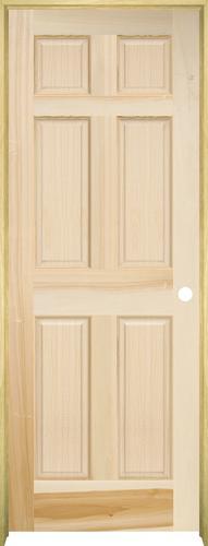 sc 1 st  Menards & Mastercraft® Poplar Raised 6-Panel Prehung Interior Door at Menards®