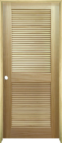 Mastercraft pine full louvered prehung interior door at menards planetlyrics Image collections