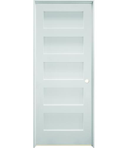 Mastercraft Brite White Flat Stile And Rail 5 Equal Panel Interior Door System At Menards