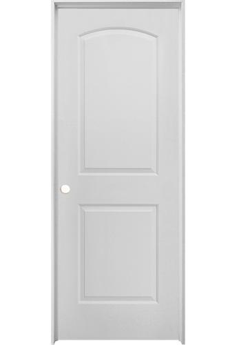 Mastercraft Prefinished Brite White Split Jamb Arched Raised 2 Panel Interior Door System At Menards