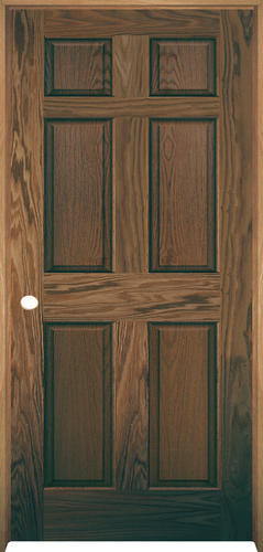 Mastercraft® Prefinished English Chestnut Oak 6 Panel Prehung Interior Door  At Menards®