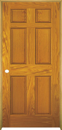 Mastercraft® Prefinished Golden Oak 6 Panel Prehung Interior Door At  Menards®
