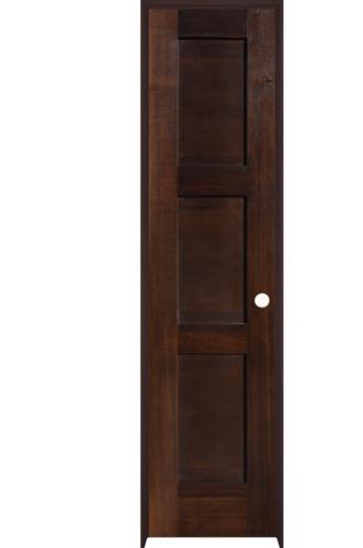 Mastercraft Prefinished Mocha Poplar 3 Panel Equal Flat Door System At Menards