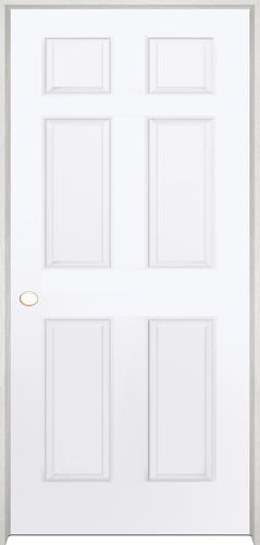 Beau Mastercraft® Primed Woodgrain 6 Panel Prehung Interior Door At Menards®