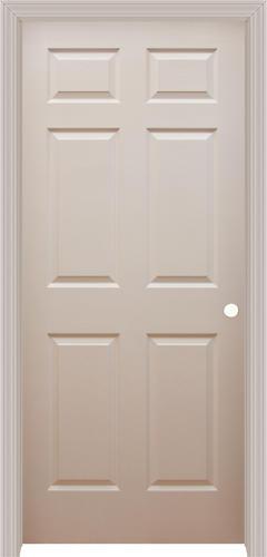 Mastercraft® Primed Woodgrain Split Jamb 6 Panel Prehung Interior Door At  Menards®