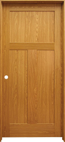 Mastercraft® Prefinished Craftsman Flat 3 Panel Prehung Interior Door At  Menards®