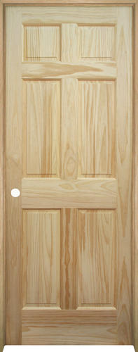 Mastercraft® Pine 6 Panel Prehung Interior Door At Menards®