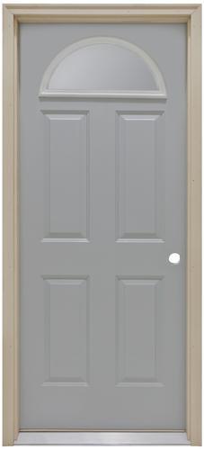 Commander 174 Primed Steel Half Moon Lite Exterior Door