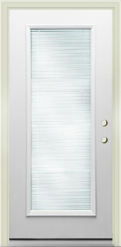 Mastercraft Internal Blind Primed Steel Full Lite Exterior Door System At Menards