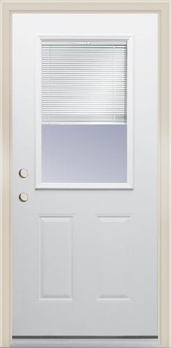 Mastercraft Internal Blind Primed Steel Half Lite Exterior Door System At Menards