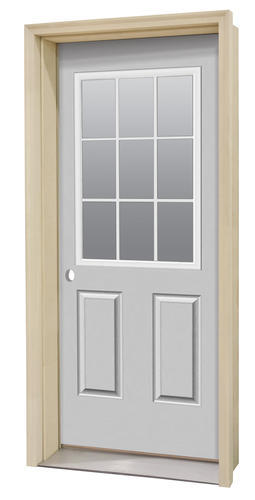 Commander Primed Steel 9 Lite Prehung Entry Door At Menards