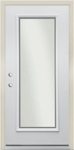 Mastercraft® Frosted Full Lite Primed Steel Exterior Door ...