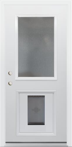 Mastercraft Chord 36 W X 80 H Primed Steel Half Lite Dog Door Exterior Door System At Menards