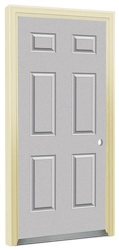 Commander® Primed Steel 6 Panel Prehung Entry Door At Menards®