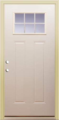 Mastercraft® E-214 36\  x 80\  Primed Steel 6-Lite Prehung Exterior Door at Menards® & Mastercraft® E-214 36\