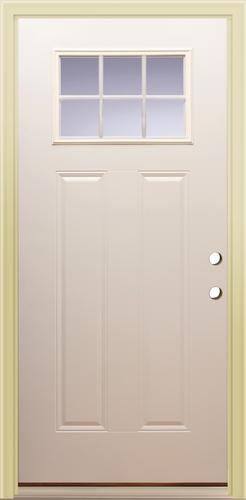 Mastercraft® Primed Steel 6-Lite Exterior Door System at