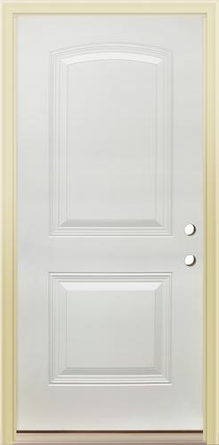 Mastercraft Primed Steel Arched 2 Panel Prehung Exterior Door At