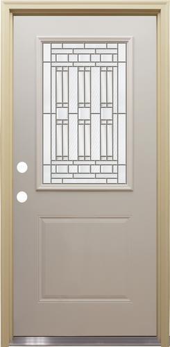Mastercraft® Memphis Half Lite Primed Steel Exterior Door ...