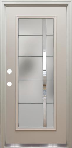 Mastercraft 174 Nova Full Lite Primed Steel Exterior Door