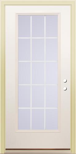 Mastercraft Primed Steel Low E 15 Lite Prehung Exterior Door At