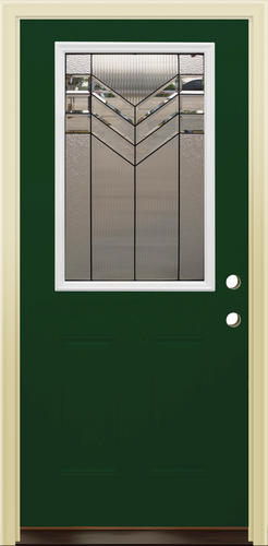 Mastercraft As 106 Green Steel Half Lite Prehung Exterior Door At Menards