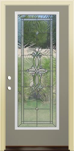 Mastercraft® AG-686 Beige Steel Full-Lite Prehung Exterior Door at ...