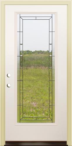 Mastercraft® Gloss White Steel Full Lite Prehung Exterior Door At Menards®