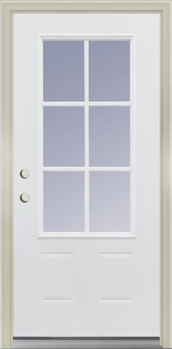 Mastercraft® Farmhouse 3/4 Lite Primed Steel Exterior Door ...