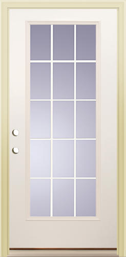 Mastercraft® Primed Steel 15 Lite Prehung Exterior Door At Menards®