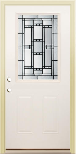 Mastercraft Ve 106 Primed Steel Half Lite Prehung Exterior Door At