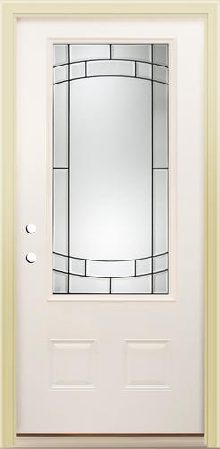 Mastercraft Sv 104 Primed Steel 34 Lite Prehung Exterior Door At
