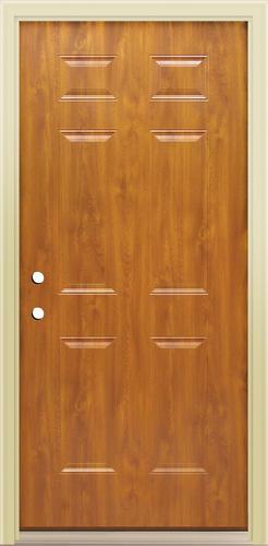 Mastercraft E 1 Light Oak Steel 6 Panel Prehung Exterior Door at